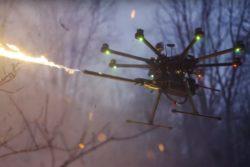 Drone flyvende flammekaster / Newz.dk