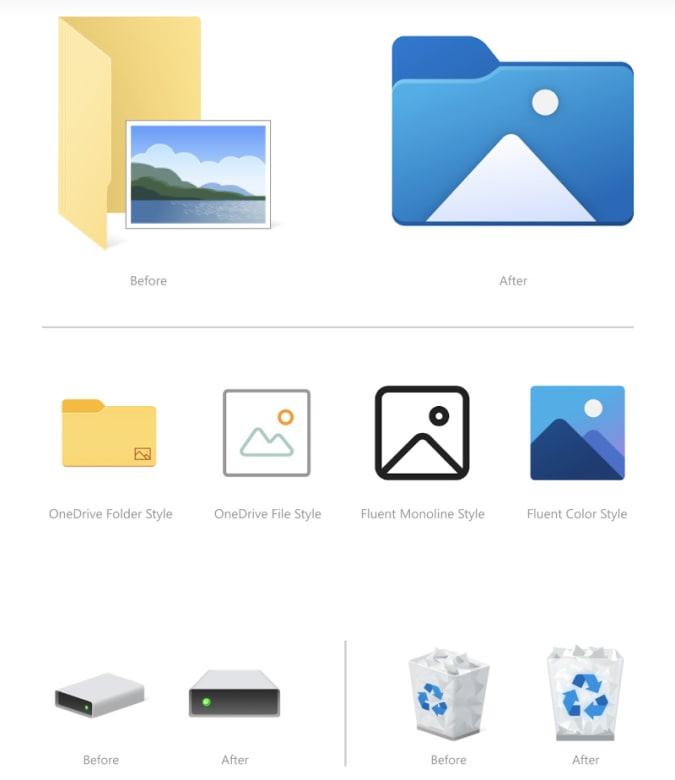 windows ikoner mapper papirkurv insider preview / newz.dk